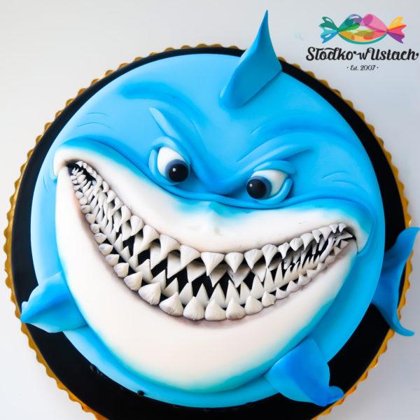 U295 - tort urodzinowy, na urodziny, artystyczny, rekin, warszawa, z dostawą, konstancin jeziorna