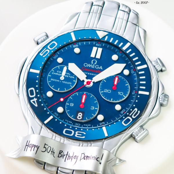 U296 - tort urodzinowy, na urodziny, artystyczny, dla faceta, męski, zegarek, warszawa, konstancin jeziorna, piaseczno