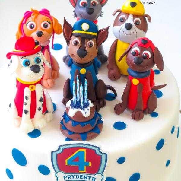 U308 - tort urodzinowy, na urodziny, dla dziecka, artystyczny, psi patrol, warszawa, dla chłopca, konstancin jeziorna