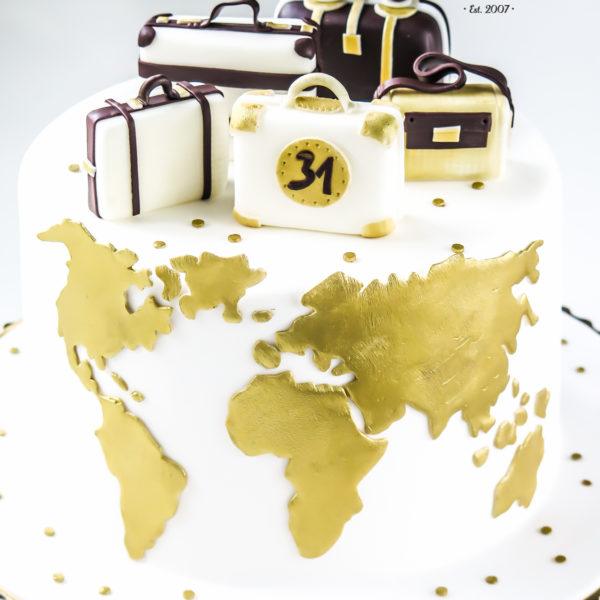U311 - tort urodzinowy, na urodziny, artystyczny, podróżniczy, podróż ,travel,, warszawa, z dostawą, konstancin jeziorna, dla podróżnika