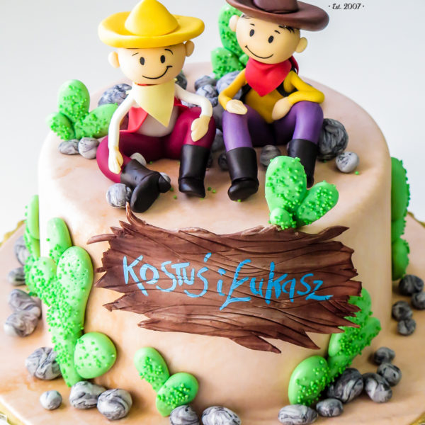 U313 - tort urodzinowy, na urodziny, dla dzieci, artystyczny, bolek i lolek, konstancin jeziorna, warszawa