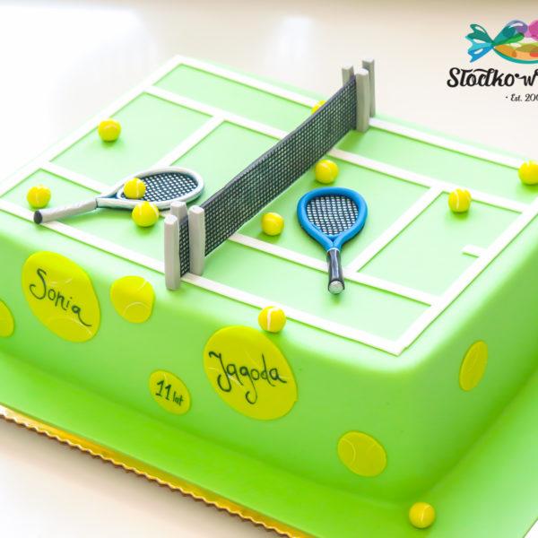 U314 - tort urodzinowy, na urodziny, artystyczny, kort tenisowy, warszawa, tenis, konstancin jeziorna, hobby, pasja, sport
