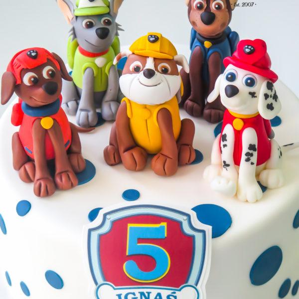 U317 - tort urodzinowy, na urodziny, dla dzieci, artystyczny, psi patrol, warszawa, dla chłopca