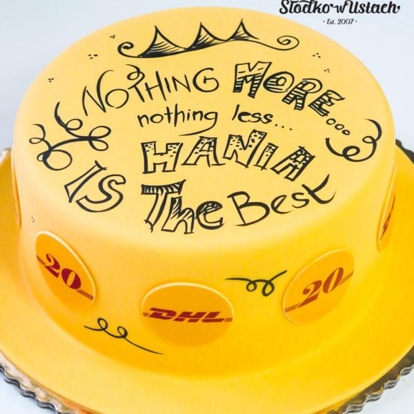 F119 - tort firmowy, dla firm, w podziękowaniu, dla pracownika , słodycze firmowe, reklamowe, prezent, dhl, personalizowane, warszawa