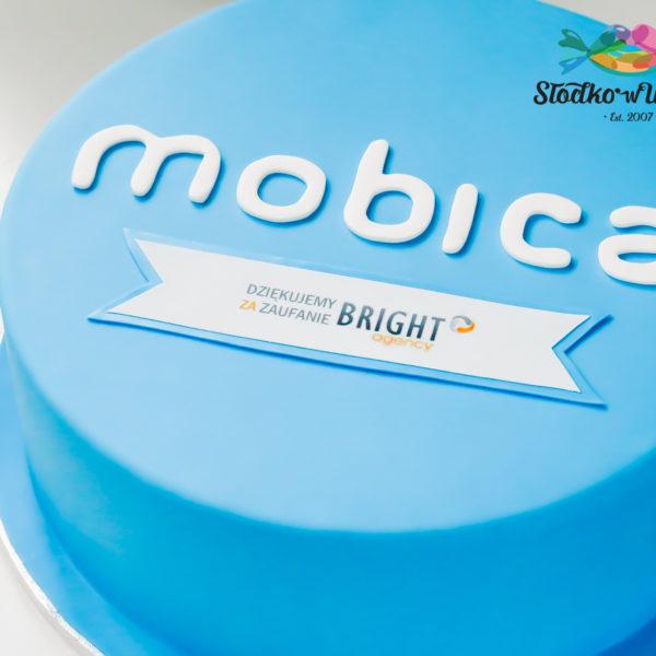 F25 - tort firmowy, dla firm, w podziękiwaniu, słodycze firmowe, reklamowe, personalizowane, mobica , bright agency, warszawa, z dostawą