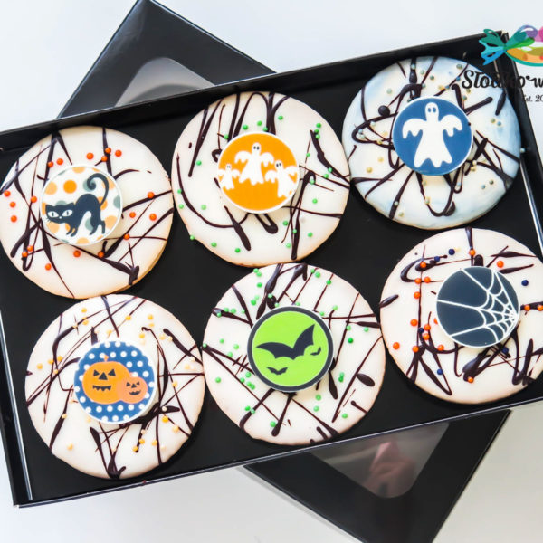 C122 - ciastka, kruche, prezenty, halloween, słodki stół, kącik, candy, bar ,