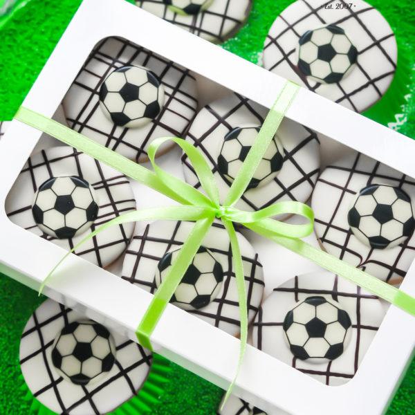 C143 - ciastka, kruche, event, prezenty, słodki stół, kącik, candy, bar , z dostawą, piłkarskie, piłka nożna