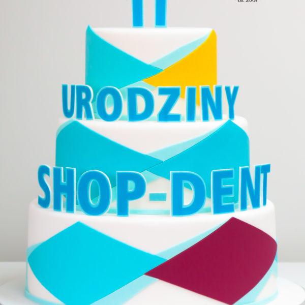 F126 - tort firmowy, artystyczny, dla firm, shop-dent, słodycze firmowe, reklamowe, personalizowane, warszawa, z logo, event