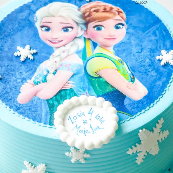 K30 - tort, klasyczny, kraina lodu, elsa, ze zdjęciem, z opłatkiem, warszawa, z dostawą, urodzinowy, dla dzieci, dla dziewczynki