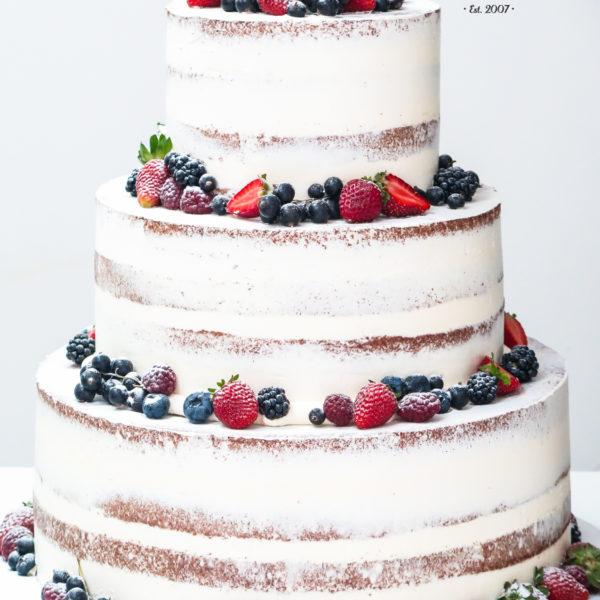 KCH58 - tort na komunię, komunijny ,chrzciny ,chrzest, piętrowy, z owocami, semi naked, warszawa, konstancin jeziorna, piaseczno