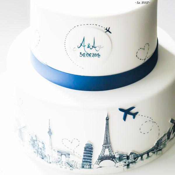 S61 - tort na ślub, wesele, ślubny, artystyczny, weselny, podróżniczy, piętrowy , warszawa, z dostawą, travel, grafika no coś pięknego