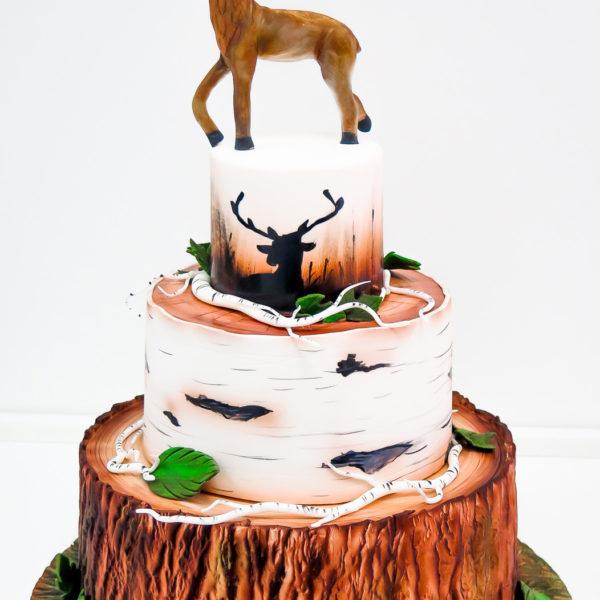 U320 - tort urodzinowy, na urodziny, artystyczny, las, fauna, flora, drzewo, warszawa, konstancin jeziorna, hobby, pasja,