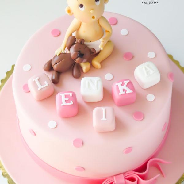 U322 - tort urodzinowy, na urodziny, dla dzieci, roczek, pierwsze urodziny, artystyczny, miś, dzidziuś, bobas, dla dziewczynki, warszawa