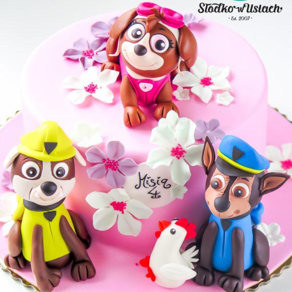 U324 - tort urodzinowy, na urodziny, dla dzieci, artystyczny, psi patrol, warszawa, dla dziewczynki
