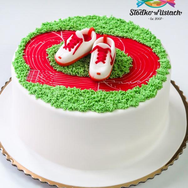 U329 - tort urodzinowy, na urodziny, artystyczny, lekkoatletyka, bieżnia, bieganie, warszawa, konstancin jeziorna, hobby, pasja, sport