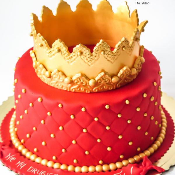 U330 - tort urodzinowy, na urodziny, dla dzieci, artystyczny, księżniczka, korona, konstancin jeziorna, warszawa, piaseczno