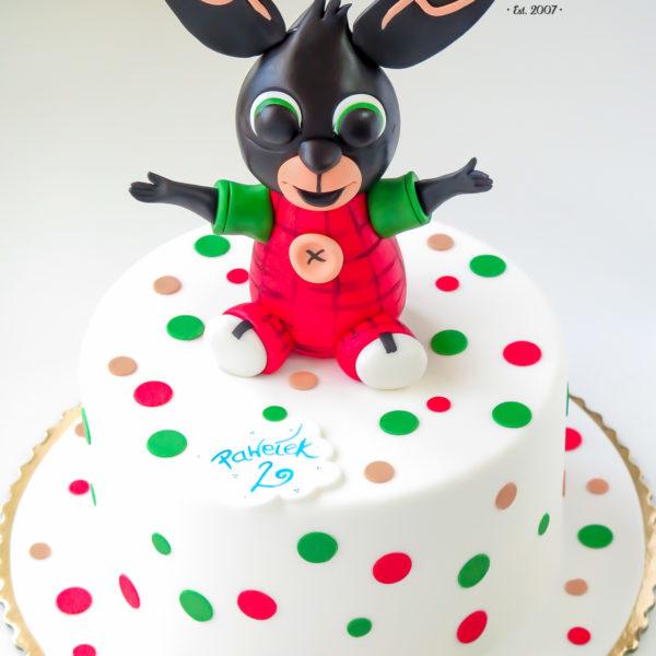 U333 - tort urodzinowy, na urodziny, dla dzieci, artystyczny, króliczek, bing, warszawa