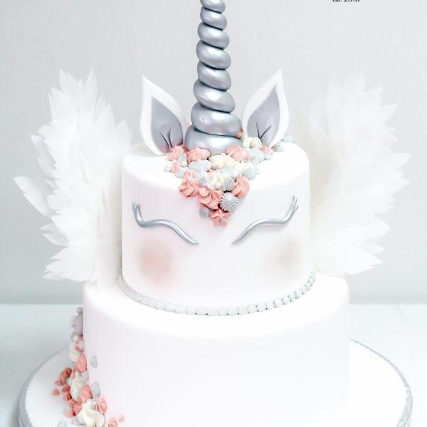 U338 - tort urodzinowy, na urodziny, dla dzieci, artystyczny, jednorożec, warszawa, z dostawą,