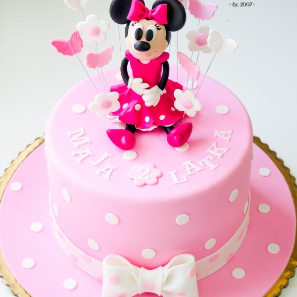 U339 - tort urodzinowy, na urodziny, dla dzieci, artystyczny, myszka minnie, warszawa, z dostawą,