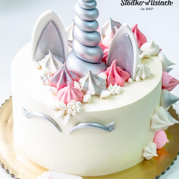 U340 - tort urodzinowy, na urodziny, dla dzieci, artystyczny, jednorożec, warszawa, z dostawą,