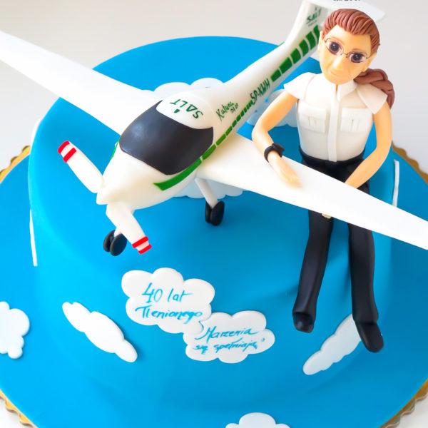 U350 - tort urodzinowy, na urodziny, samolot, pilot, artystyczny, warszawa, z dostawą,