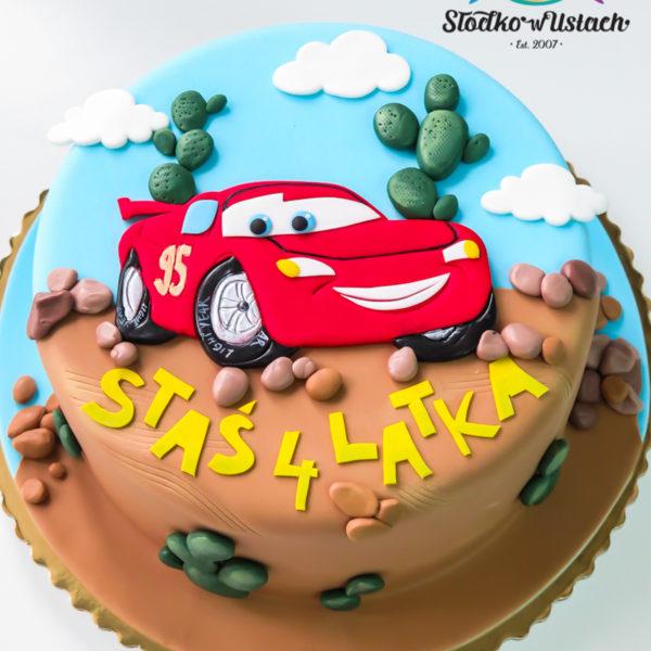 U355 - tort urodzinowy, na urodziny, dla dzieci, artystyczny, auta, cars, zygzak, mcqueen, warszawa