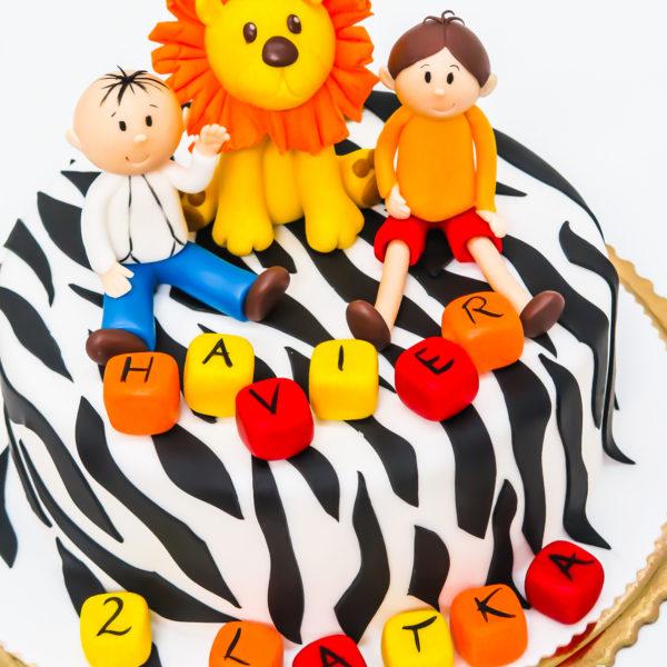 U358 - tort urodzinowy, na urodziny, dla dzieci, artystyczny, bolek i lolek, konstancin jeziorna, warszawa
