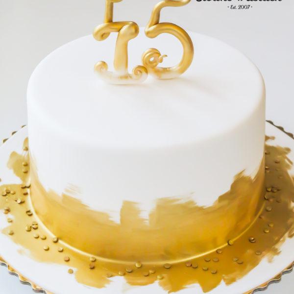 U360 - tort urodzinowy, na urodziny, złocony, artystyczny, warszawa, z dostawą, 45