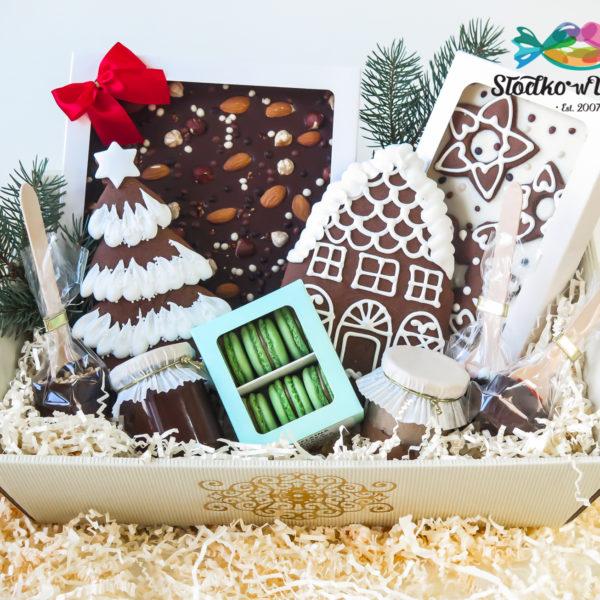 SW69 - pierniki firmowe, kosze, prezentowe, dla firm, pracowników, słodycze firmowe, reklamowe, personalizowane, warszawa, świąteczne, prezenty, z dostawą