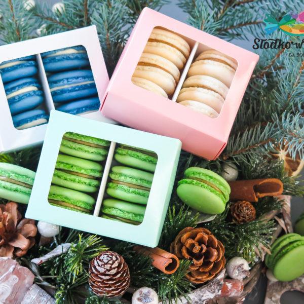 SW70 - makaroniki, dla firm, słodycze firmowe, reklamowe , personalizowane, słodko w ustach, świąteczne, prezenty