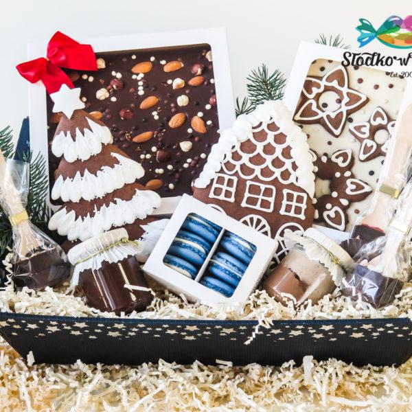 SW71 - pierniki firmowe, kosze, prezentowe, dla firm, pracowników, słodycze firmowe, reklamowe, personalizowane, warszawa, świąteczne, prezenty, z dostawą