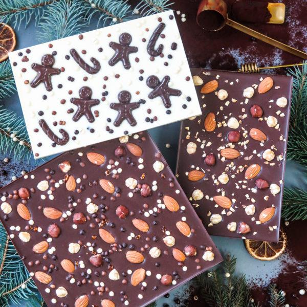 SW73 - czekolada ręcznie wylewana , dla firm, z orzechami, czekoldowymi figurkami, słodycze firmowe, reklamowe , personalizowane, słodko w ustach, świąteczne, prezenty