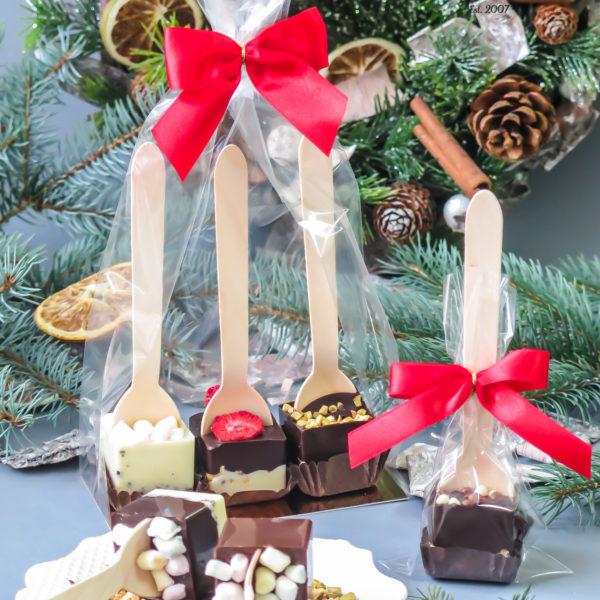 SW80 - czekoladowe łyżeczki, łyżeczki z czekoladą do rozpuszczenia, dla firm, słodycze firmowe, reklamowe , personalizowane, słodko w ustach, świąteczne, prezenty, logo