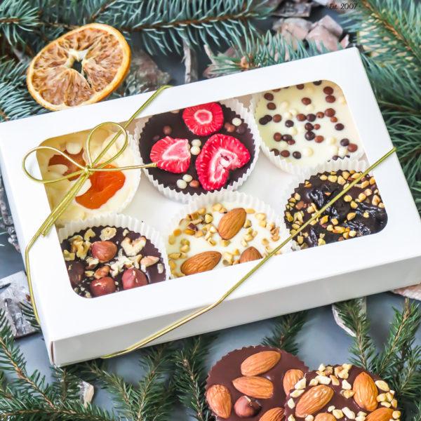 SW86 - czekoladowe tartaletki, dla firm, słodycze firmowe, reklamowe , personalizowane, słodko w ustach, świąteczne, prezenty