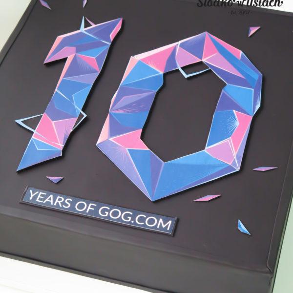F133 - tort firmowy, artystyczny, dla firm, gog.com, słodycze firmowe, reklamowe, personalizowane, warszawa, z logo, event