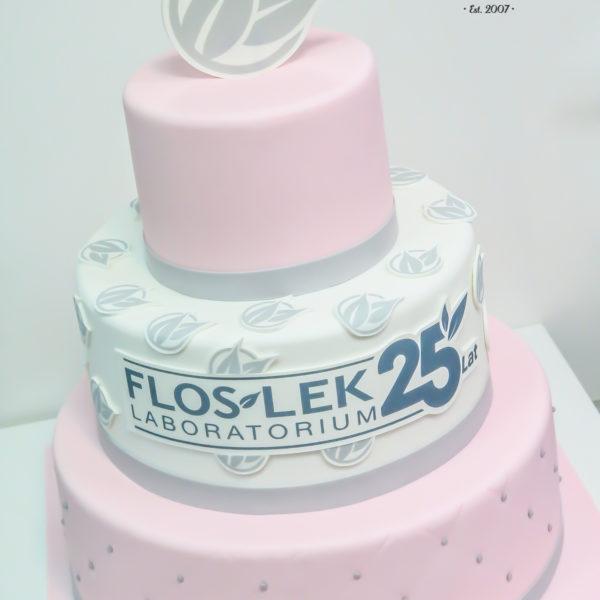 F137 - tort firmowy, artystyczny, dla firm, floslek, słodycze firmowe, reklamowe, personalizowane, warszawa, z logo, event