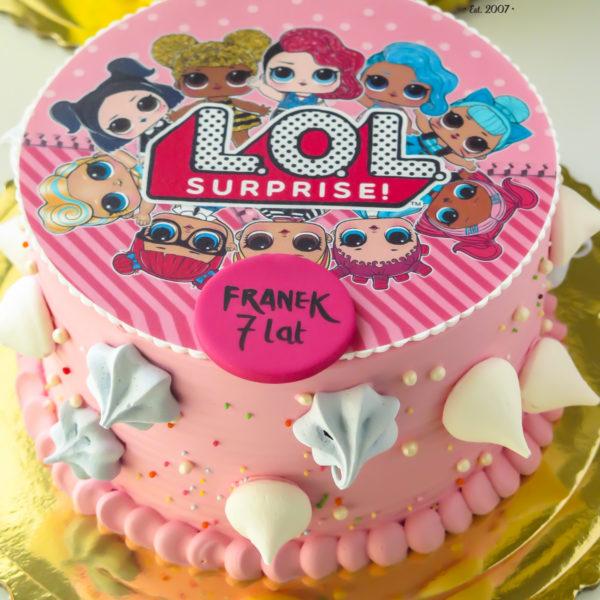 K36 - tort, klasyczny, lol surprise, ze zdjęciem, z wydrukiem, warszawa, z dostawą, urodzinowy, dla dzieci