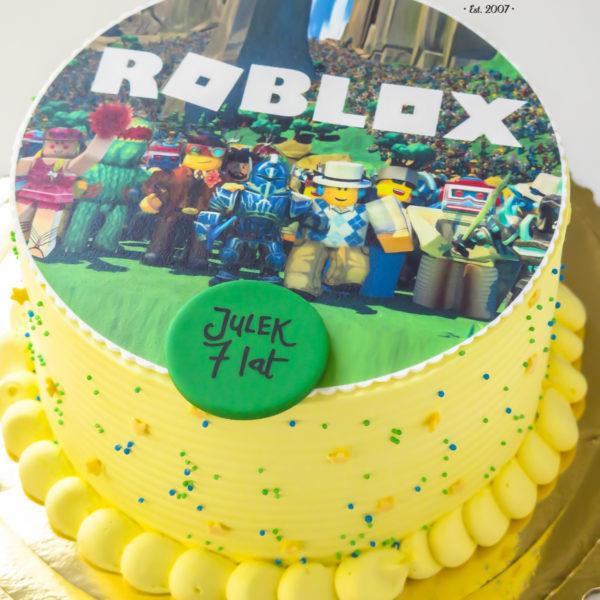 K38 - tort, klasyczny, roblox, ze zdjęciem, z wydrukiem, warszawa, z dostawą, urodzinowy, dla dzieci