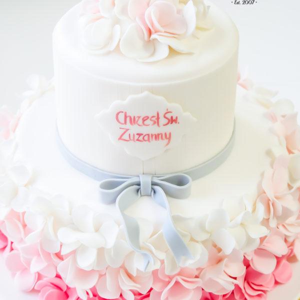KCH60 - tort na chrzciny, chrzest, dla dziewczynki, warszawa, konstancin jeziorna, piaseczno