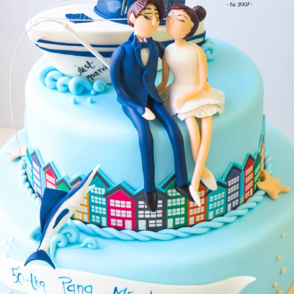 S63 - tort na ślub, wesele, ślubny, artystyczny, weselny, podróżniczy, piętrowy , cake, warszawa, z dostawą,