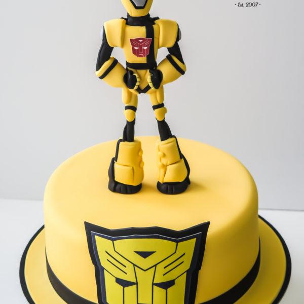 U361 - tort urodzinowy, na urodziny, dla dzieci, artystyczny, transformers, warszawa, z dostawą,