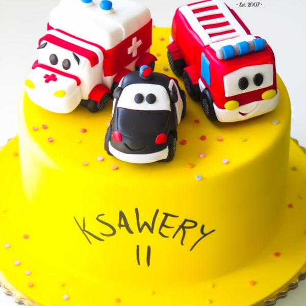 U362 - tort urodzinowy, na urodziny, dla dzieci, artystyczny, auta, cars, warszawa
