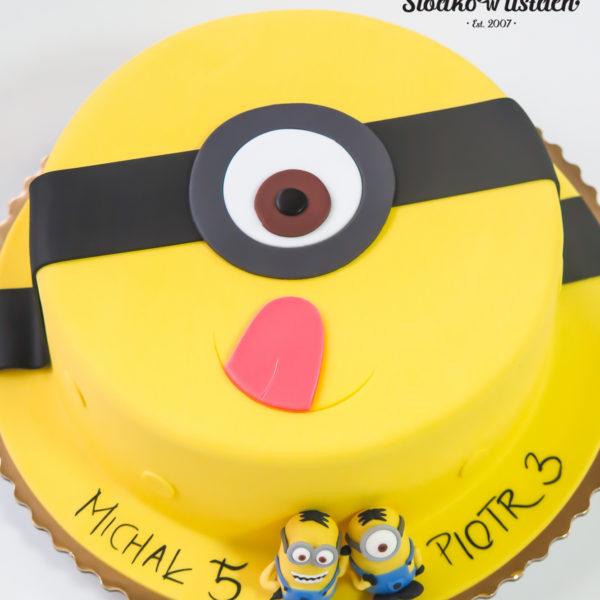 U363 - tort urodzinowy, na urodziny, dla dzieci, artystyczny, minionki, konstancin jeziorna, warszawa