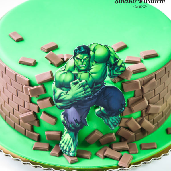 U371 - tort urodzinowy, na urodziny, dla dzieci, artystyczny, avengers, super bohaterowie, hulk, warszawa, z dostawą, marvel,
