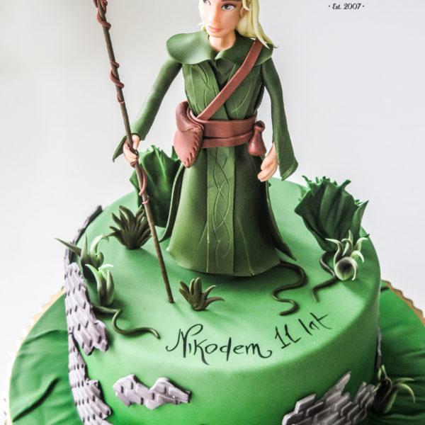 U373 - tort urodzinowy, na urodziny, dla dzieci, artystyczny, z figurką, warszawa, z dostawą,