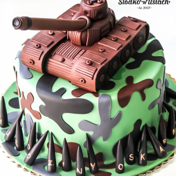 U376 - tort urodzinowy, na urodziny, dla dzieci, artystyczny, czołg, warszawa