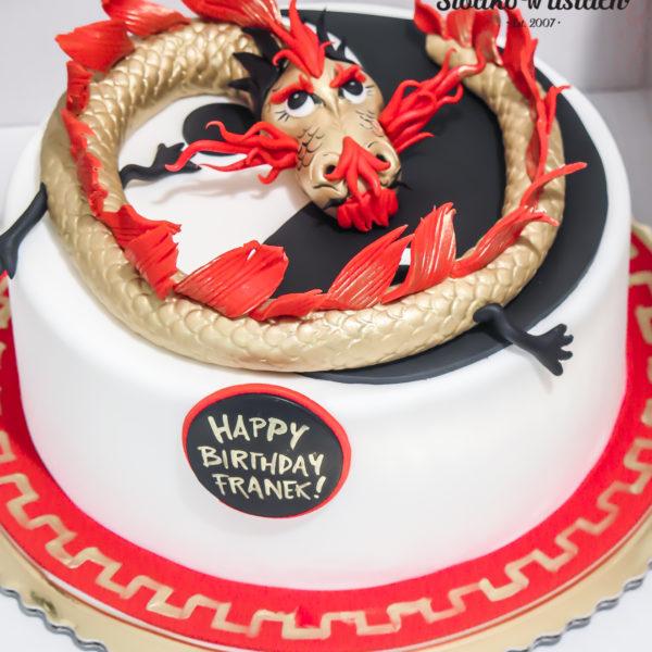 U380 - tort urodzinowy, na urodziny, dla dzieci, artystyczny, smok, warszawa, z dostawą,