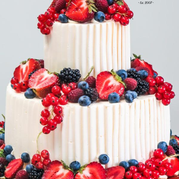 U381 - tort urodzinowy, na urodziny, owoce, klasyczny, bez masy cukrowej, piaseczno, z dostawą, warszawa, z owocami