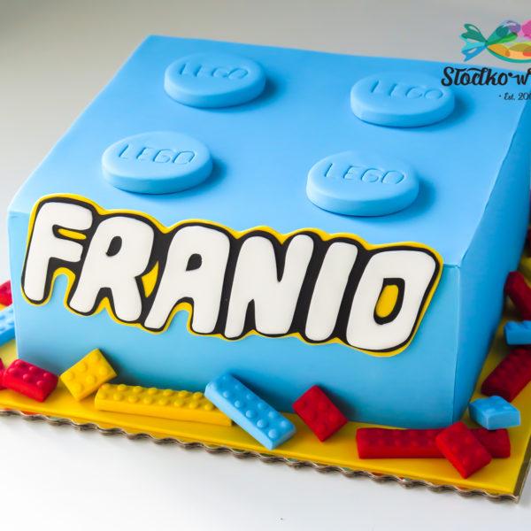 U386 - tort urodzinowy, na urodziny, dla dzieci, artystyczny, klocek , lego, warszawa