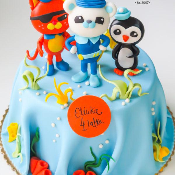 U388 - tort urodzinowy, na urodziny, dla dzieci, artystyczny, oktonauci, warszawa